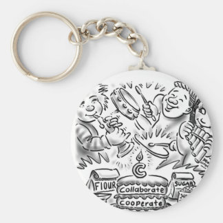 harmony basic round button keychain