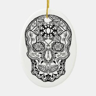 Harmony Black and White Ceramic Ornament