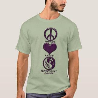 Harmony Camp: Peace, Love & Purple T-Shirt
