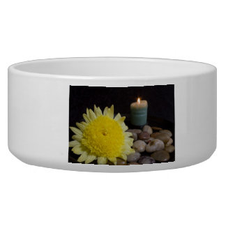 Harmony Candle and Yellow Flower Bowl