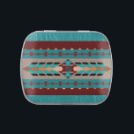 """Harmony Candy Tin &amp; Jelly Beans<br><div class=""""desc"""">This Southwestern blanket-styled design reminds us of the need for harmony and balance along life&#39;s path. The center piece is decorated with feathered air spray and embossed leather-effect. The maroon and turquoise buttons have a 3D effect, helping to bring this piece alive . This digital image is customizable. BTHQ -...</div>"""