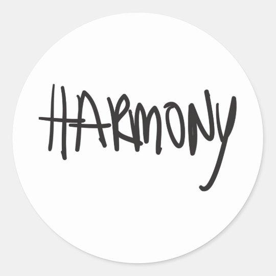 harmony classic round sticker