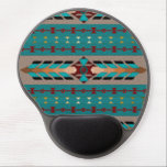"Harmony Ergonomic Gel Mousepad<br><div class=""desc"">This Southwestern blanket-styled design reminds us of the need for harmony and balance along life&#39;s path. The center piece is decorated with feathered air spray and embossed leather-effect. The maroon and turquoise buttons have a 3D effect, helping to bring this piece alive . This digital image is customizable. BTHQ -...</div>"