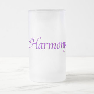 Harmony Frosted Glass Beer Mug