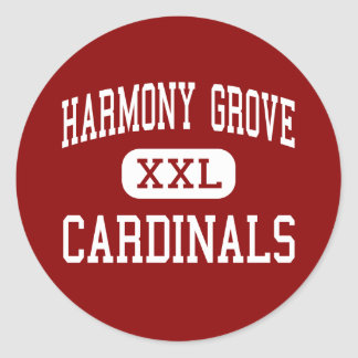 Harmony Grove - Cardinals - Middle - Benton Classic Round Sticker