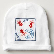 < Harmony handle goldfish >Goldfishes of Japanese Baby Beanie
