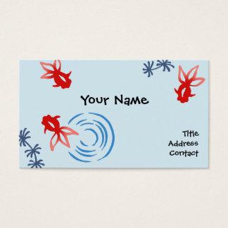 < Harmony handle goldfish >Goldfishes of Japanese Business Card