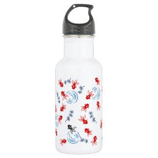 < Harmony handle goldfish >Goldfishes of Japanese Stainless Steel Water Bottle