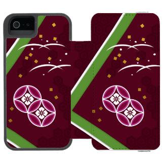 < Harmony handle (powdered tea azuki bean color) > iPhone SE/5/5s Wallet Case