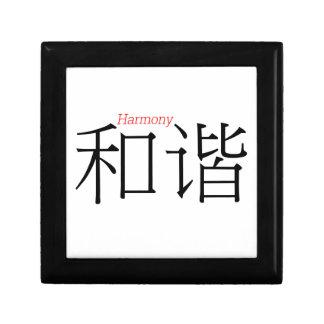 HARMONY (he'xie) in Chinese Characters Keepsake Box