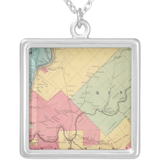 Harmony, Hickory, Kingsley, Tionesta townships Silver Plated Necklace