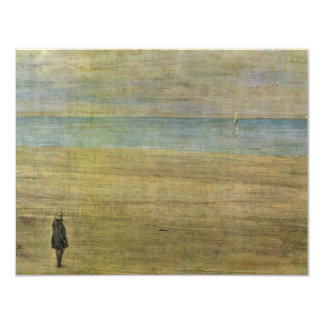 """Harmony In Blue And Silver: Trouville By Whistler 4.25"""" X 5.5"""" Invitation Card"""