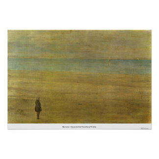 Harmony in blue and silver Trouville by Whistler Poster