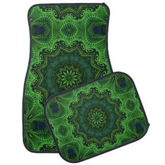 Harmony in Green Floor Mat