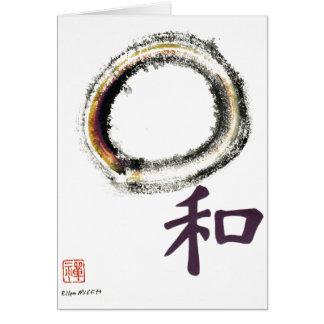 Harmony in Purple - Zen Enso Card