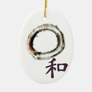 Harmony in Purple - Zen Enso Ceramic Ornament