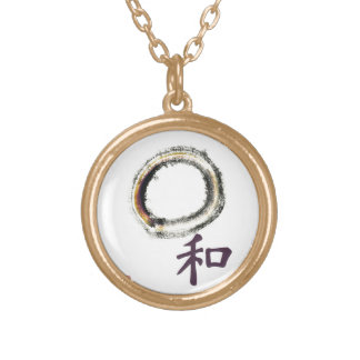Harmony in Purple - Zen Enso Gold Plated Necklace
