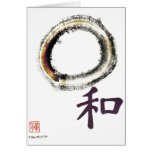 Harmony in Purple - Zen Enso Greeting Card