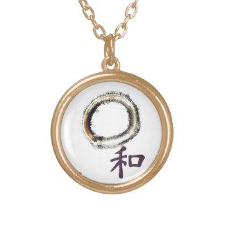 Harmony in Purple - Zen Enso Round Pendant Necklace