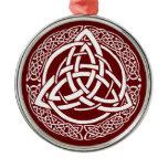 Harmony in Snow Metal Ornament