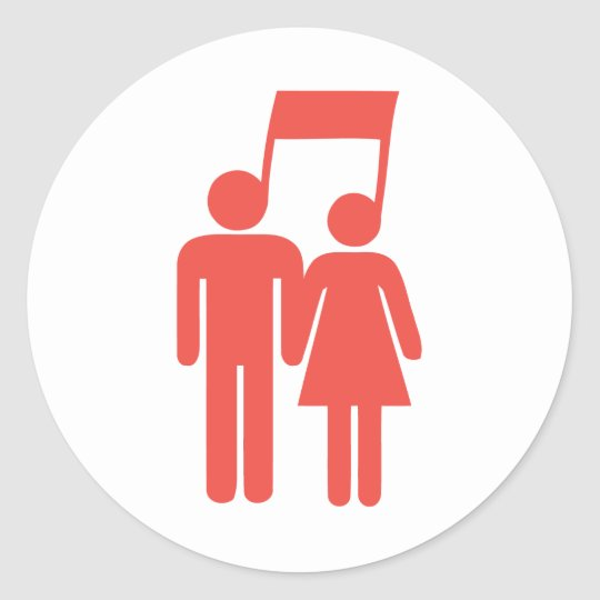 Harmony in Sync Classic Round Sticker