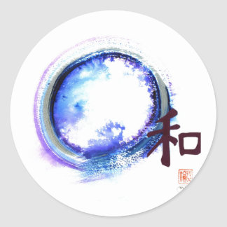 Harmony just out of reach round sticker