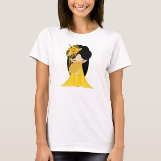Harmony Kokeshi Doll in blends of yellow Tshirt