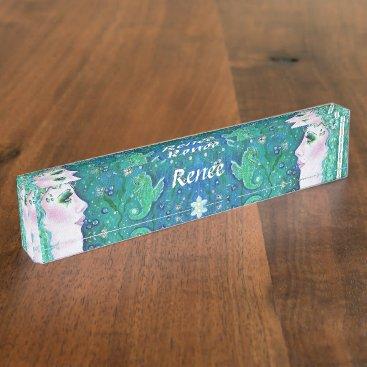 Professional Business Harmony mermaid nameplate by Renee Lavoie