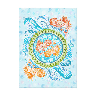 Harmony of the seas ,boho,hippie,bohemian canvas print
