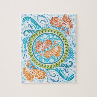 Harmony of the seas ,boho,hippie,bohemian jigsaw puzzle