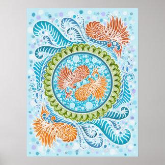 Harmony of the seas ,boho,hippie,bohemian poster