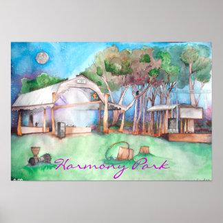 Harmony Park @ Night Poster