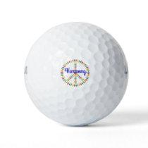Harmony Peace Sign Golf Balls
