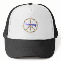 Harmony Peace Sign Trucker Hat