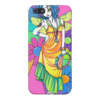 """Harmony"" Rainbow Flower Child Fairy IPhone 4 Case"