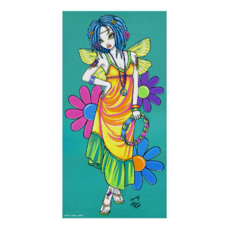"""Harmony"" Rainbow Flower Child Fairy Poster"