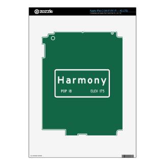 Harmony, Road Marker, California, USA iPad 3 Decal