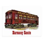 Harmony Route Railway Car Postcards