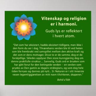 Harmony Science Religion (Norwegian) Poster