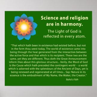 Harmony Science Religion Poster