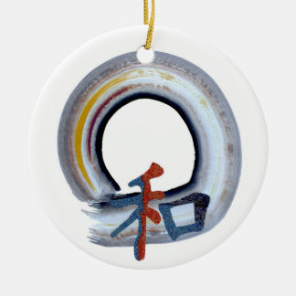 Harmony - shikiski board Double-Sided ceramic round christmas ornament