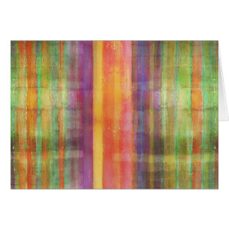 Harmony Stripes Colors Abstract Modern Art Note Ca Card