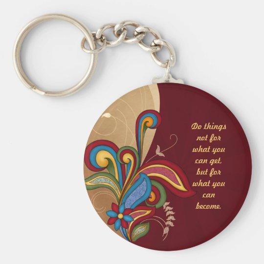Harmony Swirl Affirmation Keychain