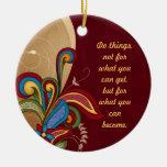 Harmony Swirl Affirmation Ornament