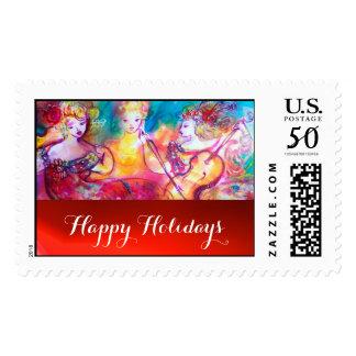 HARMONY TRIO SPRING CONCERT Happy Holidays Postage