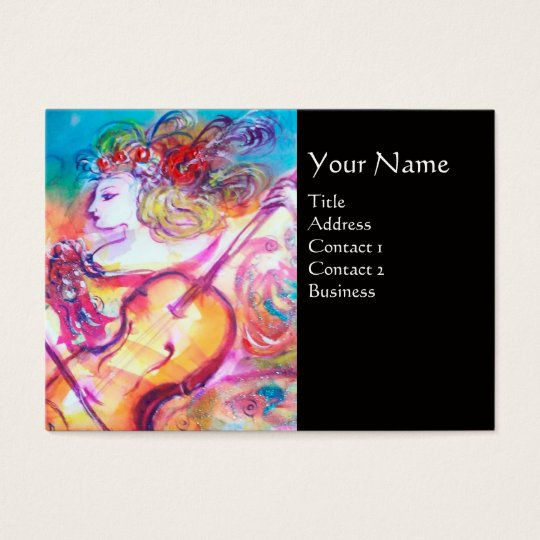 HARMONY TRIO SPRING CONCERT MONOGRAM ,Black Pink Business Card