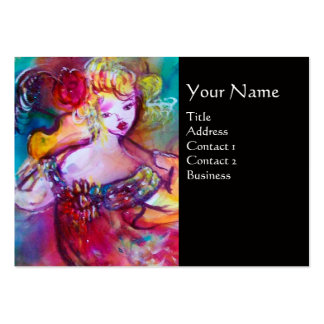 HARMONY TRIO SPRING CONCERT MONOGRAM ,Black Pink Large Business Card