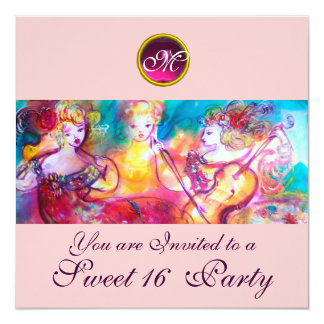 HARMONY TRIO SPRING CONCERT,Sweet 16 Birthday Card