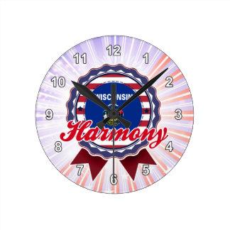 Harmony, WI Round Wall Clock