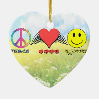 Harmony - Wishing you Peace, Love and Happiness! Ceramic Ornament